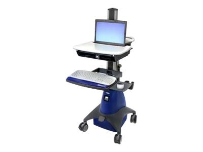 Ergotron Styleview Laptop Cart with Scanner holder and Power Supply, SV21-30077, 5467697, Computer Carts - Medical