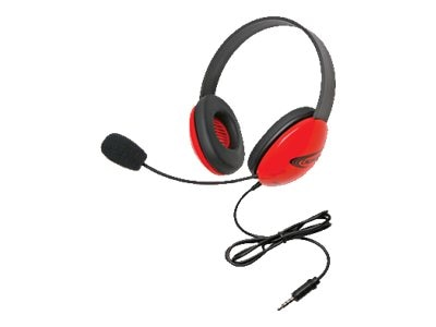 Stereo Headphone w  Go 3.5mm Plug via ErgoGuys - Red, 2800-RDT, 17585009, Headsets (w/ microphone)