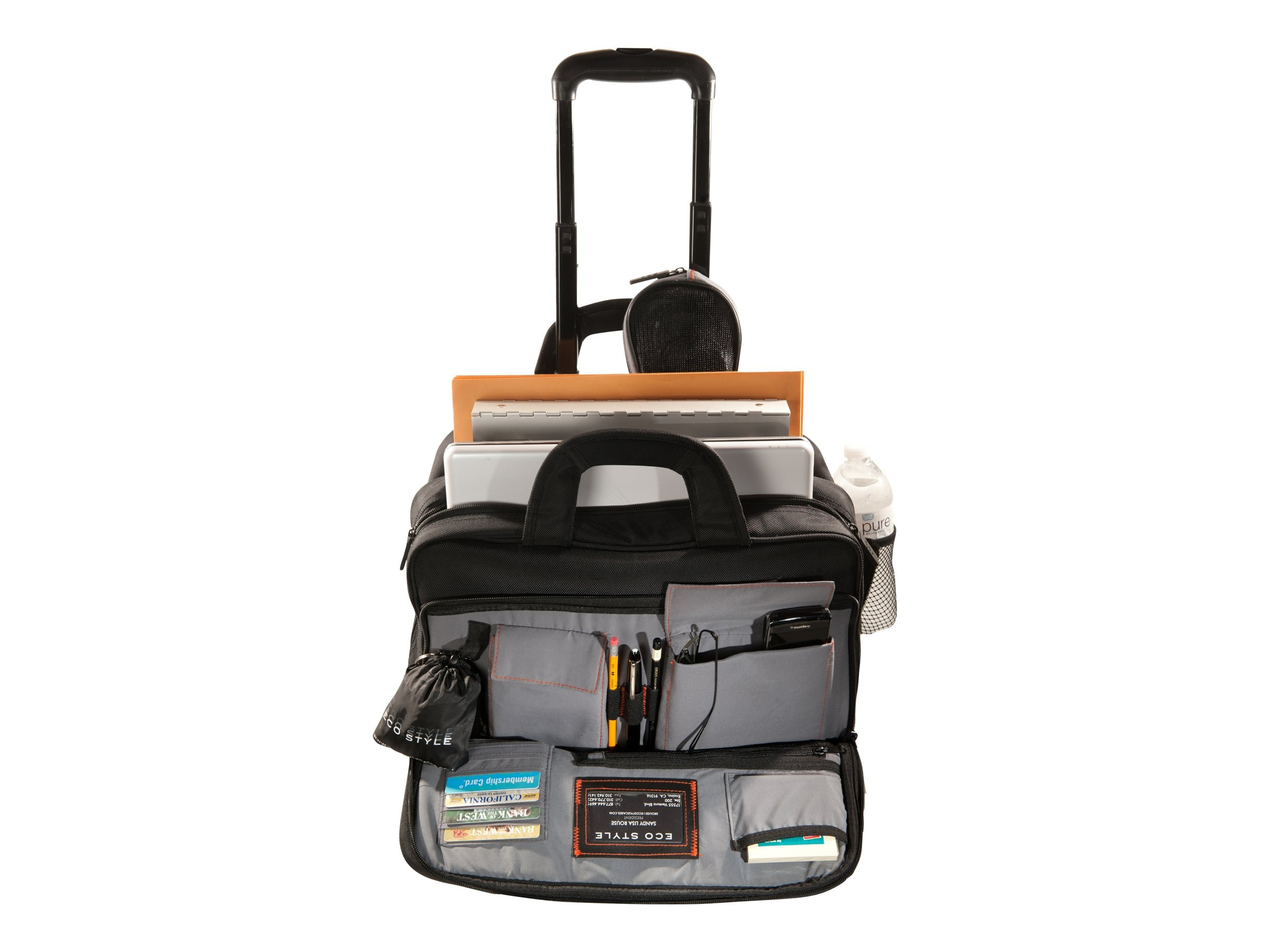 Eco Style Luxe Rolling Case, Fits 15.6 Notebook, Black, ELUX-RC14, 13932878, Carrying Cases - Notebook