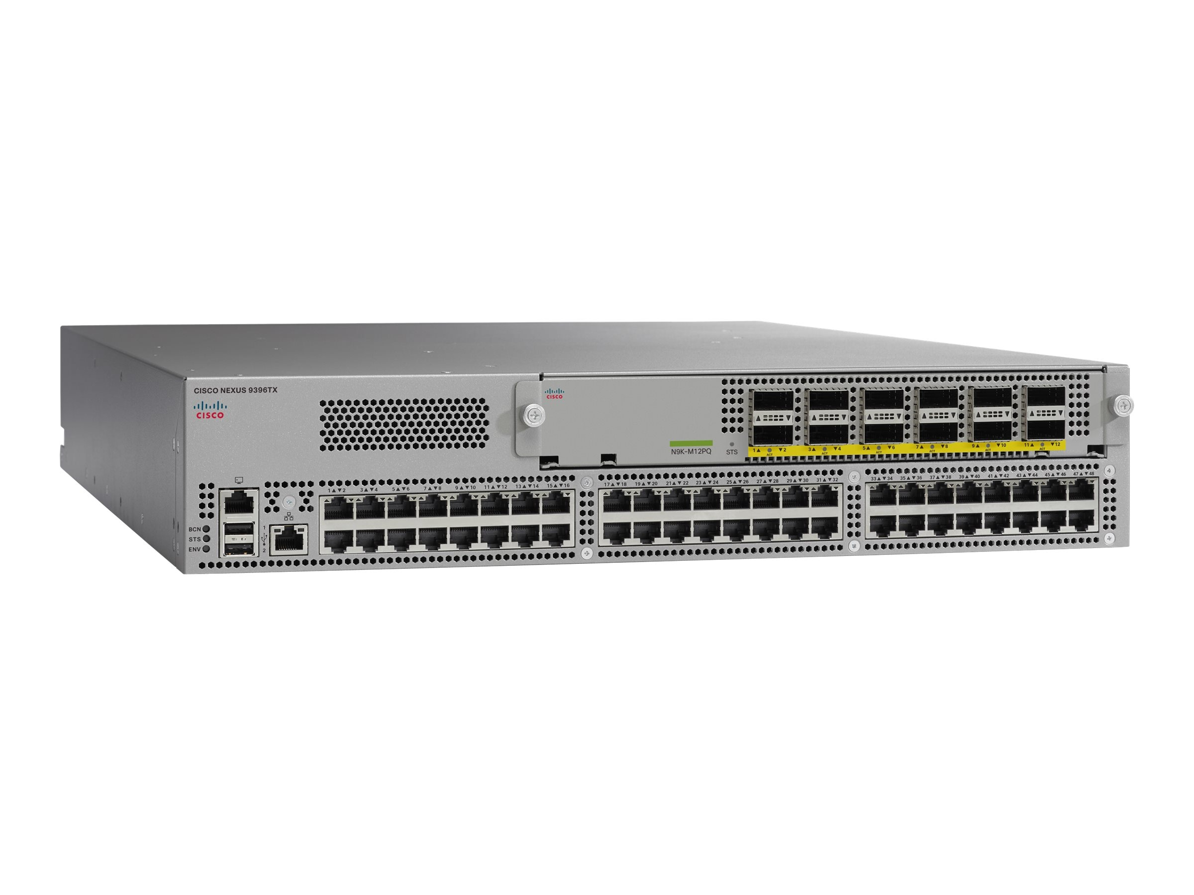 Cisco Nexus 9300 w 48-Port 1 10GBase-T & 8-Port 40G QSFP+, N9K-C9396TX, 30755181, Network Switches
