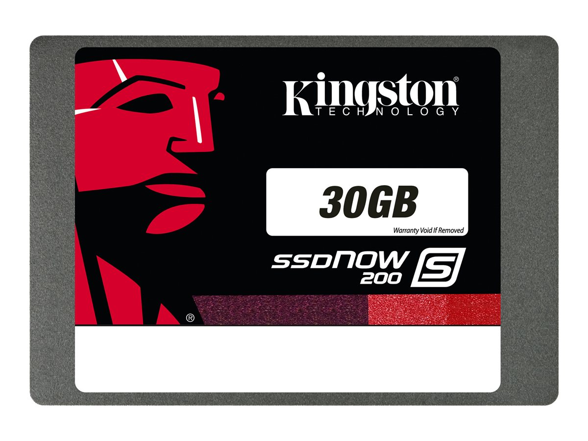 Kingston 30GB SSDNow S200 SATA 6Gb s 2.5 Internal Hard Drive, SS200S3/30G, 15687589, Solid State Drives - Internal
