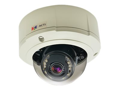 Acti 3MP Outdoor Day Night Superior WDR 4.3x Zoom Dome Camera, E817