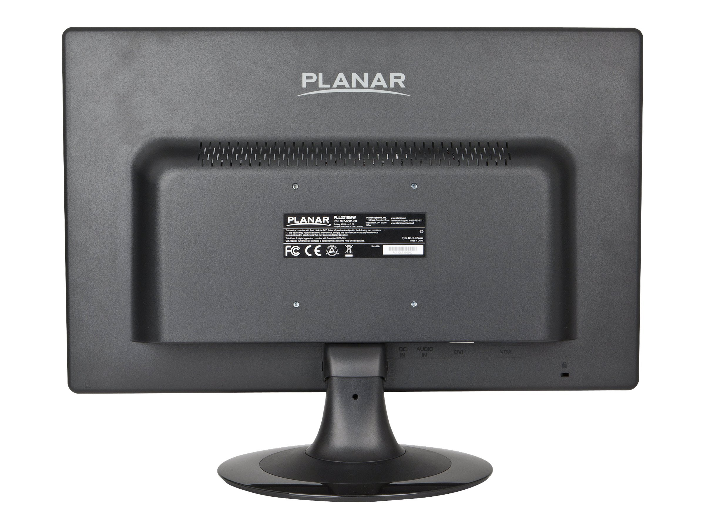 Planar 22 PLL2210mw Full HD LED Monitor, Black, 997-6501-00