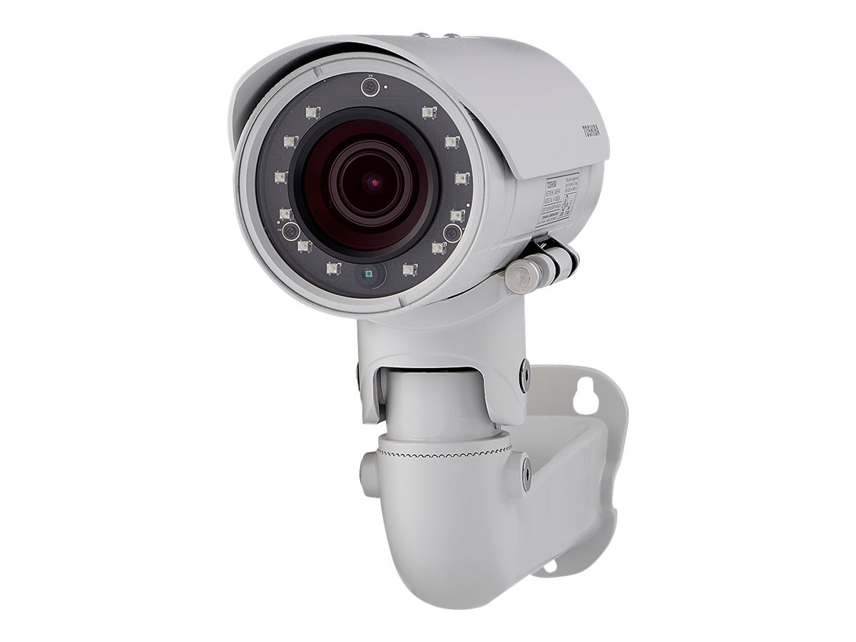 Toshiba 3MP Outdoor WDR Bullet Camera with 4x Optical Remote Zoom, White, IK-WB82A