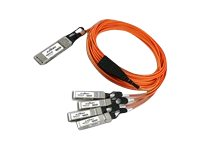 Axiom QSFP+ to 4 SFP+ Active Optical Cable, 3m