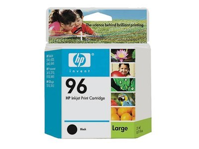 HP 96 (C8767WN) Black Original Ink Cartridge, C8767WN#140, 6120978, Ink Cartridges & Ink Refill Kits