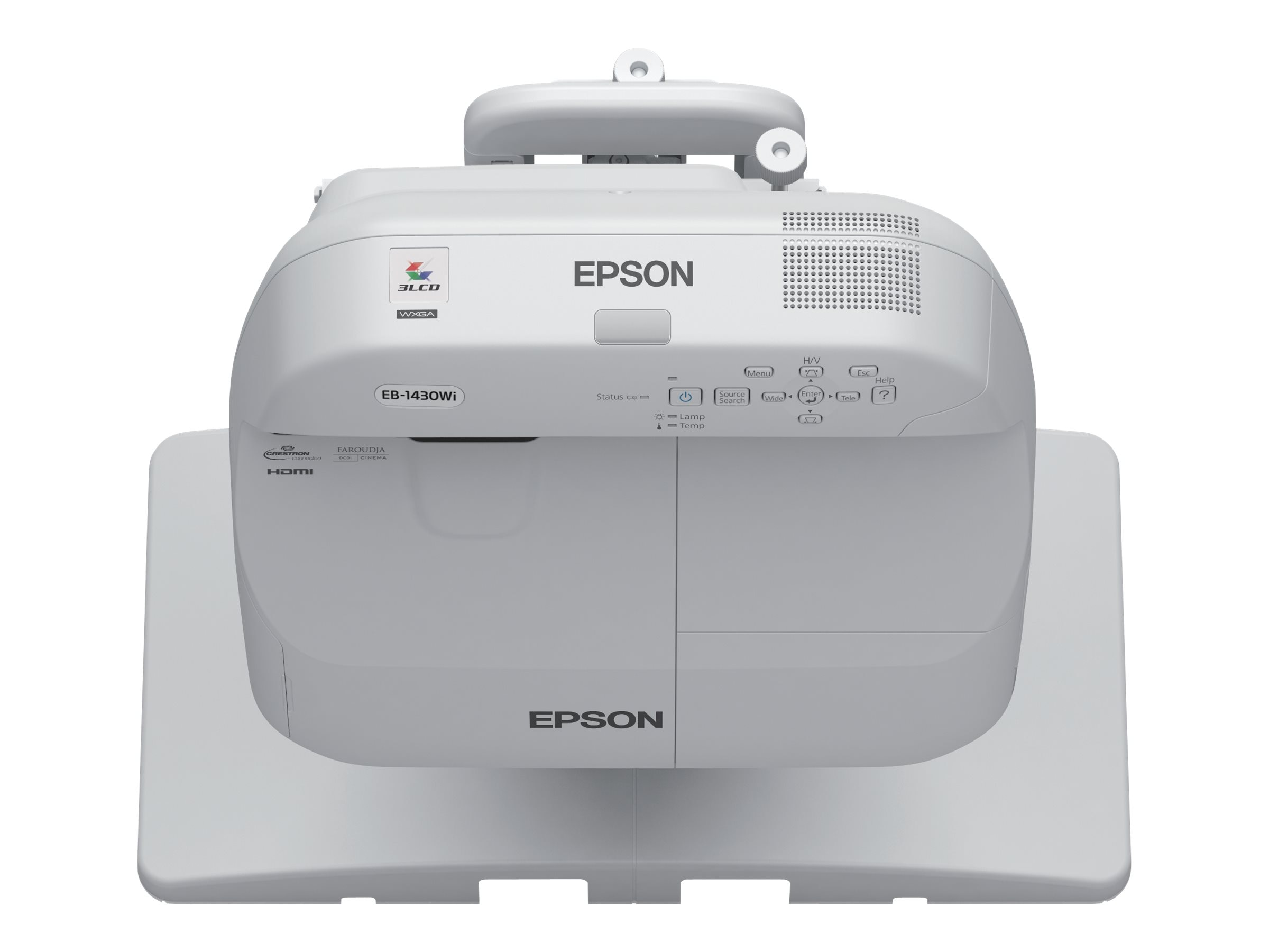 Epson BrightLink Pro 1420Wi WXGA Interactive Projector, 3300 Lumens, White with Wall Mount, V11H612520W
