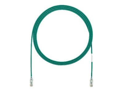 Panduit Cat6e 28AWG UTP CM LSZH Copper Patch Cable, Green, 75ft