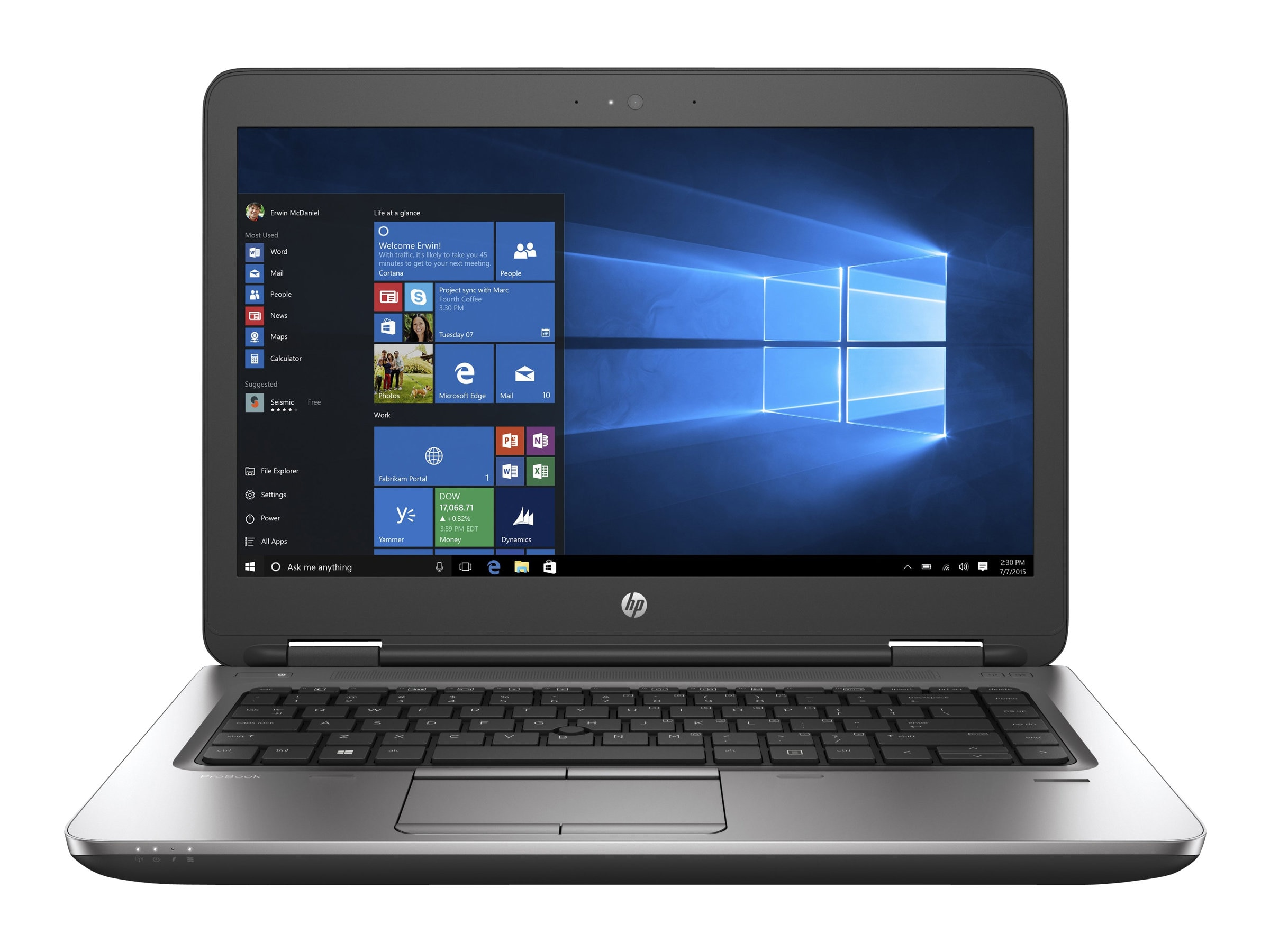 HP ProBook 640 G2 2.3GHz Core i5 14in display, V1H09UT#ABA