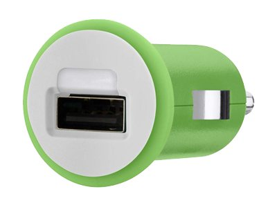 Belkin Mixit Up Car Charger 5 Watt 1 Amp, Green, F8J018TTGRN, 15756249, Automobile/Airline Power Adapters