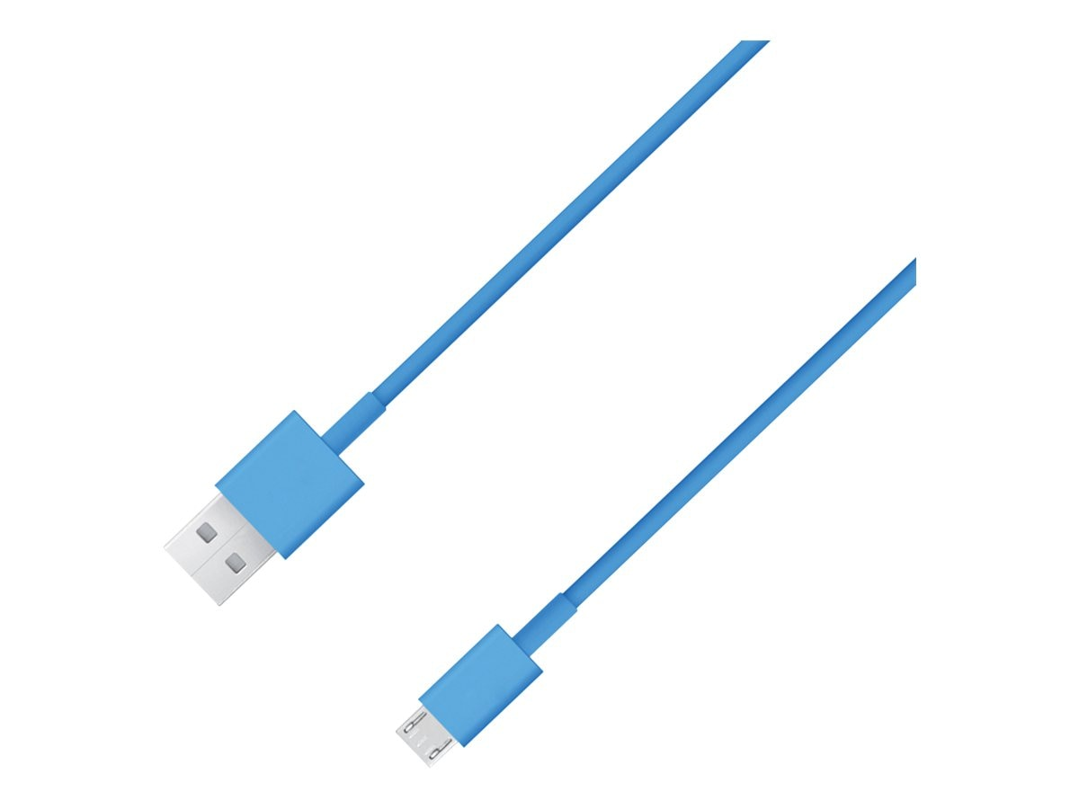 4Xem Micro USB Type B to USB Type A M M Cable, Blue, 3ft, 4XMUSBCBLBL