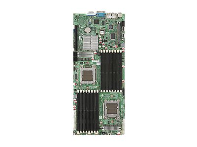 Supermicro Motherboard, MCP55V-Pro, Dual Opteron QC 2000, Proprietary, Max 128GB DDR2, PCIEX16, SIMSO, 2GBE,Vid, MBD-H8DMT+-B, 9626309, Motherboards