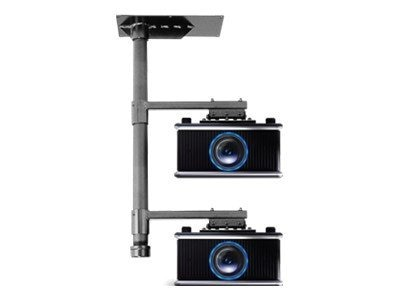 InFocus Dual Projector Ceiling Stacker Mount, Black, PRJ-STACK-UNIV, 12826264, Stands & Mounts - AV