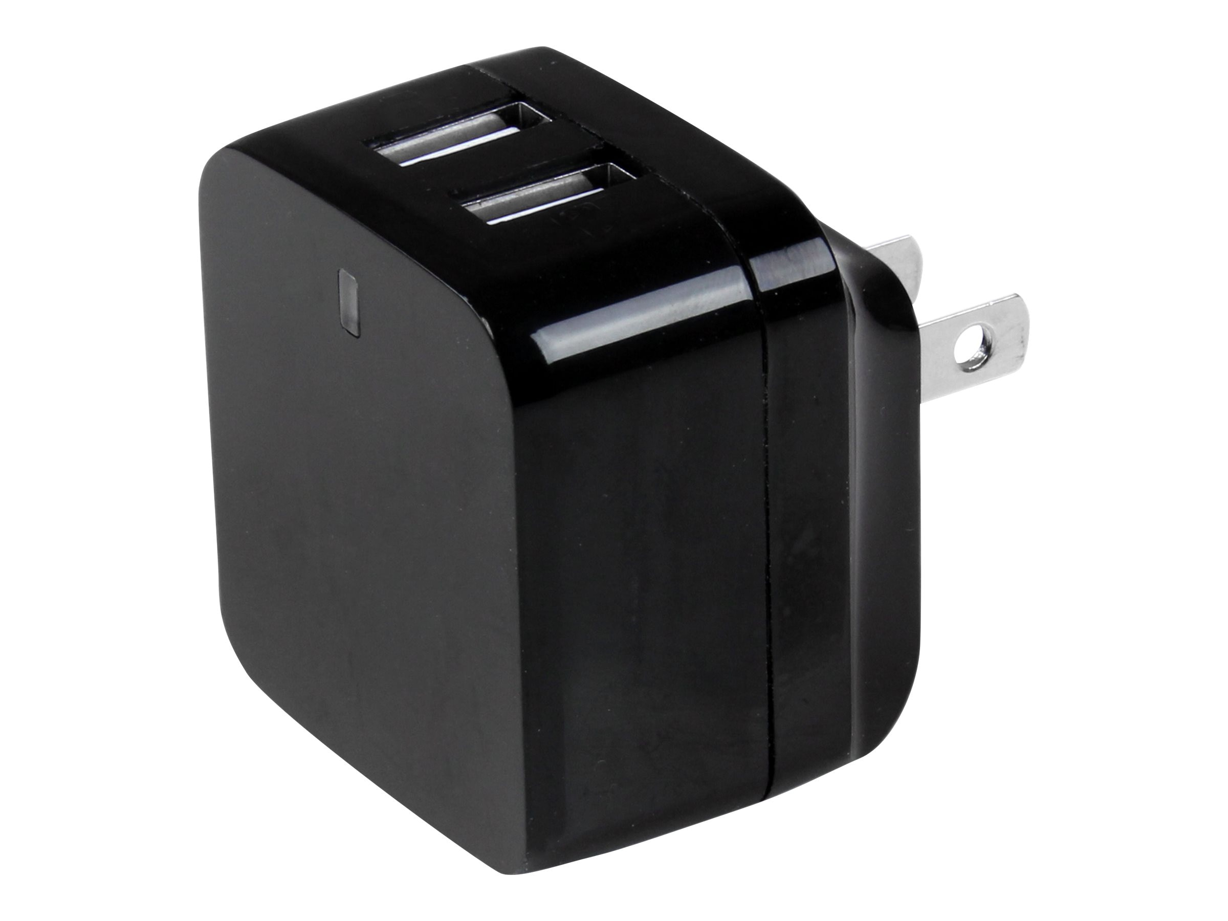 StarTech.com Dual Port USB High Power International Travel Wall Charger, USB2PACBK