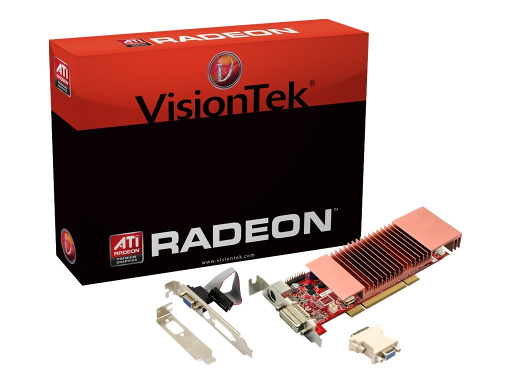 VisionTek Radeon HD 3450 PCI Low Profile Graphics Card, 512MB DDR2, 900321, 11621700, Graphics/Video Accelerators