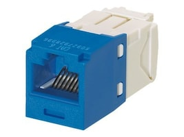 Panduit Mini-Com Cat6 Modular Jack, 8-Position, 8-Wire, Blue, CJ688TGBU, 10769041, Premise Wiring Equipment