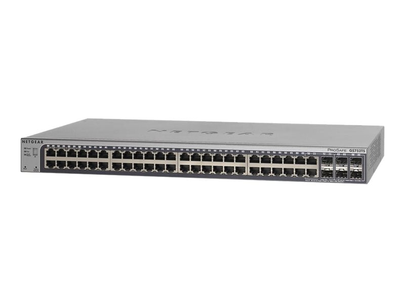 Netgear 52-port ProSafe 2nd Generation Gigabit Stackable Smart Switch, GS752TSB-100NAS, 14258491, Network Switches