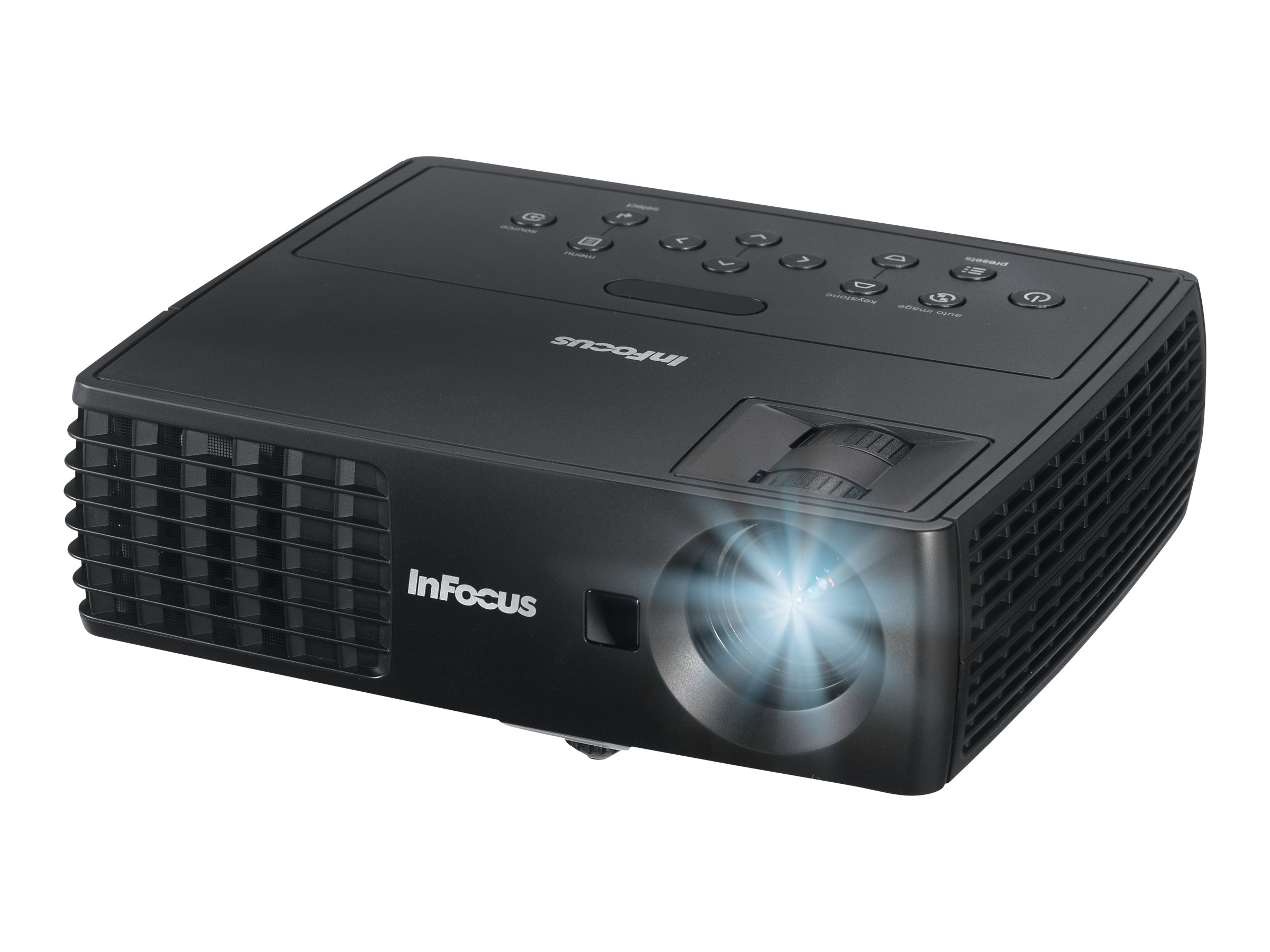 InFocus IN1110A XGA DLP 3D Projector, 2100 Lumens, Black, IN1110A, 15680029, Projectors