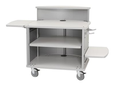 Ergotron Mobile Mini Cashwrap Cart, Silver Metallic Blanc Laminate