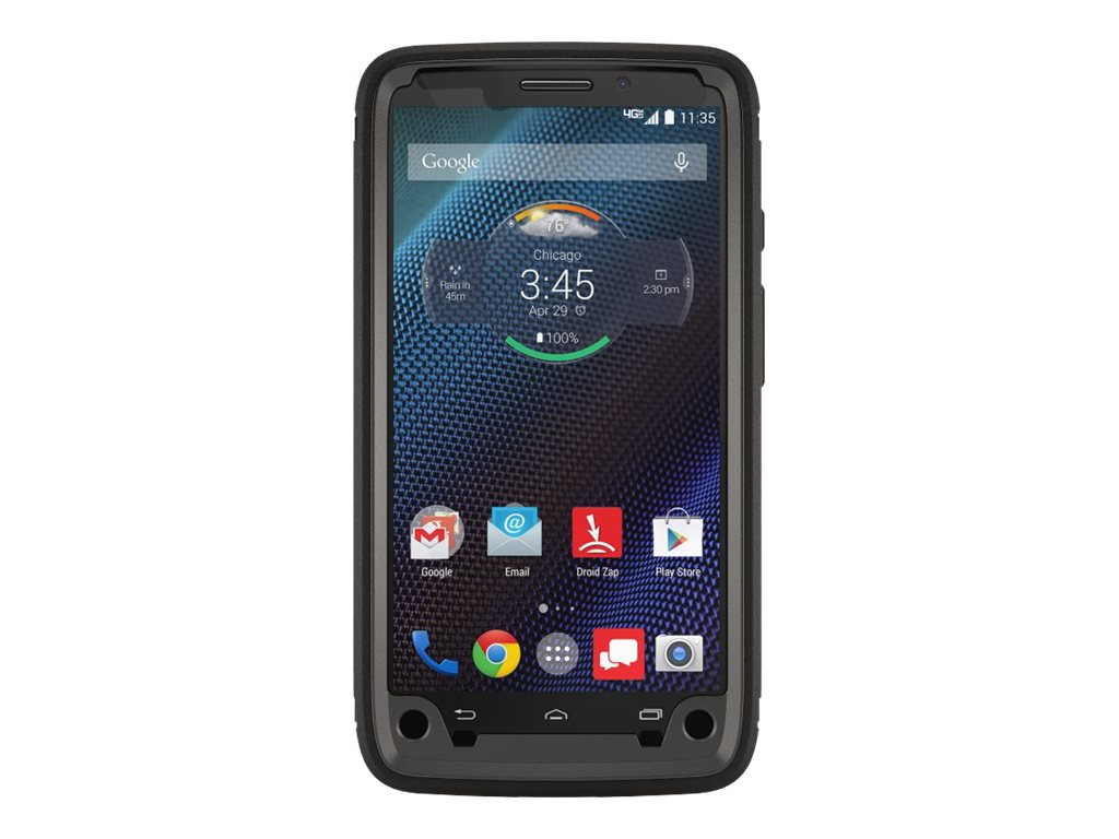 OtterBox Defender Series for Motorola Droid Turbo, Black, 77-50021, 18381833, Carrying Cases - Phones/PDAs