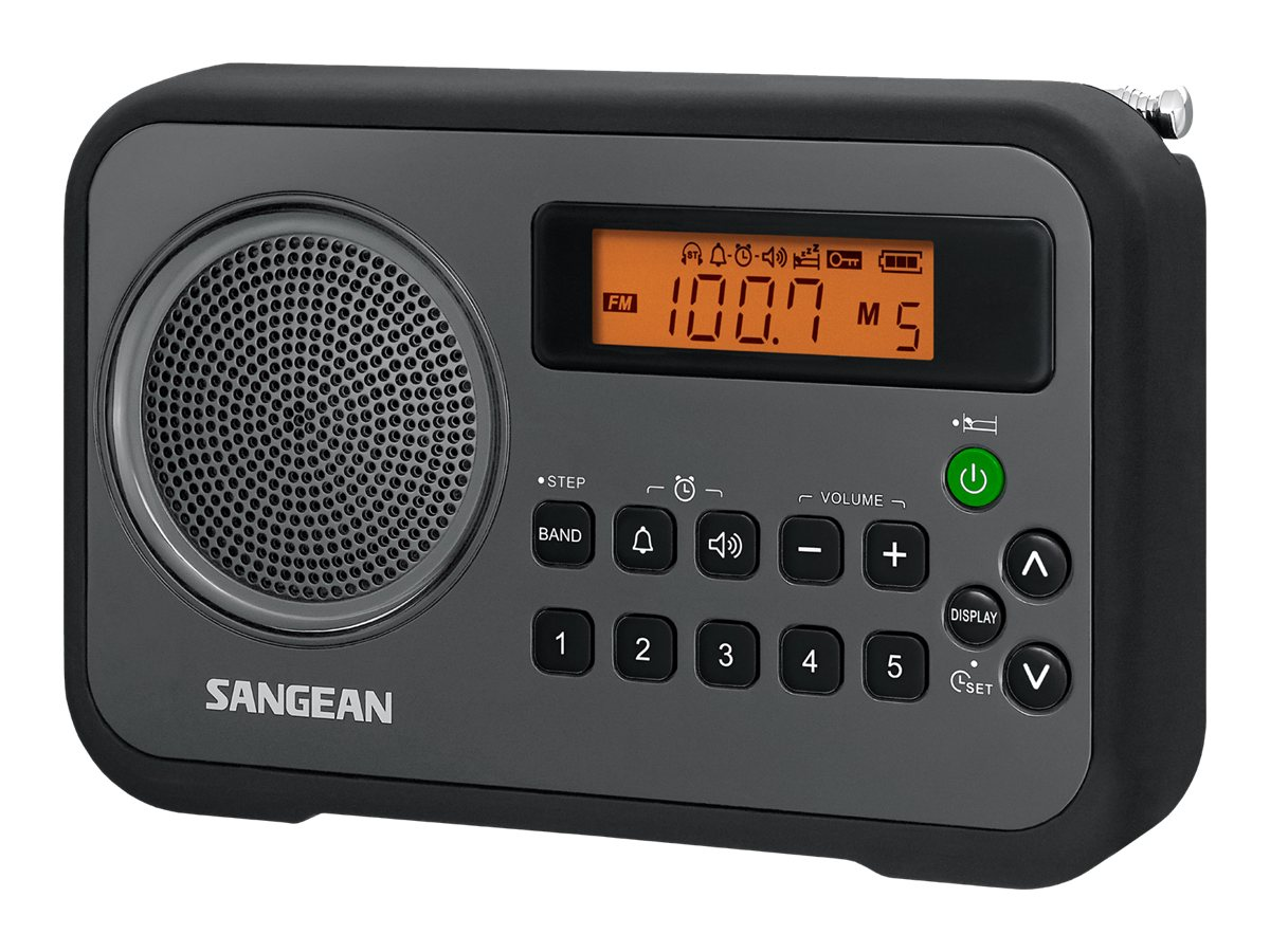 Sangean AM FM Digital Tuning Portable Receiver - Black