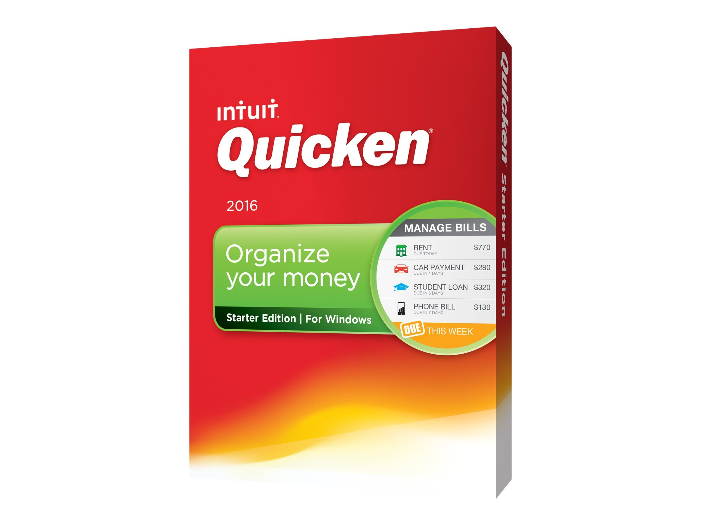 Intuit QUICKEN STARTER EDITION 2016   CROM., 426760, 31009745, Software - Financial