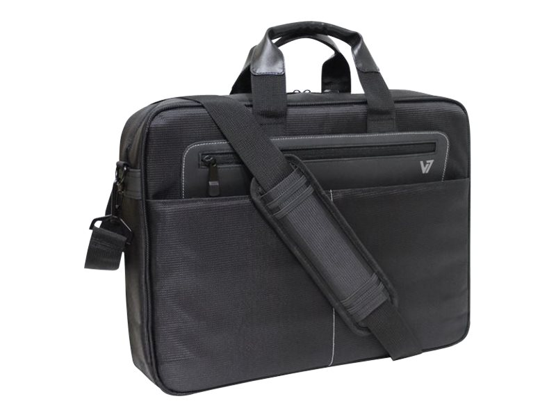 V7 Cityline Toploading Carrying Case for 16 Laptop, CTX1-9N, 16065360, Carrying Cases - Notebook