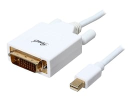 Rosewill Mini DisplayPort to DVI M M Cable, White, 6ft, RCDC-14018, 32546227, Cables