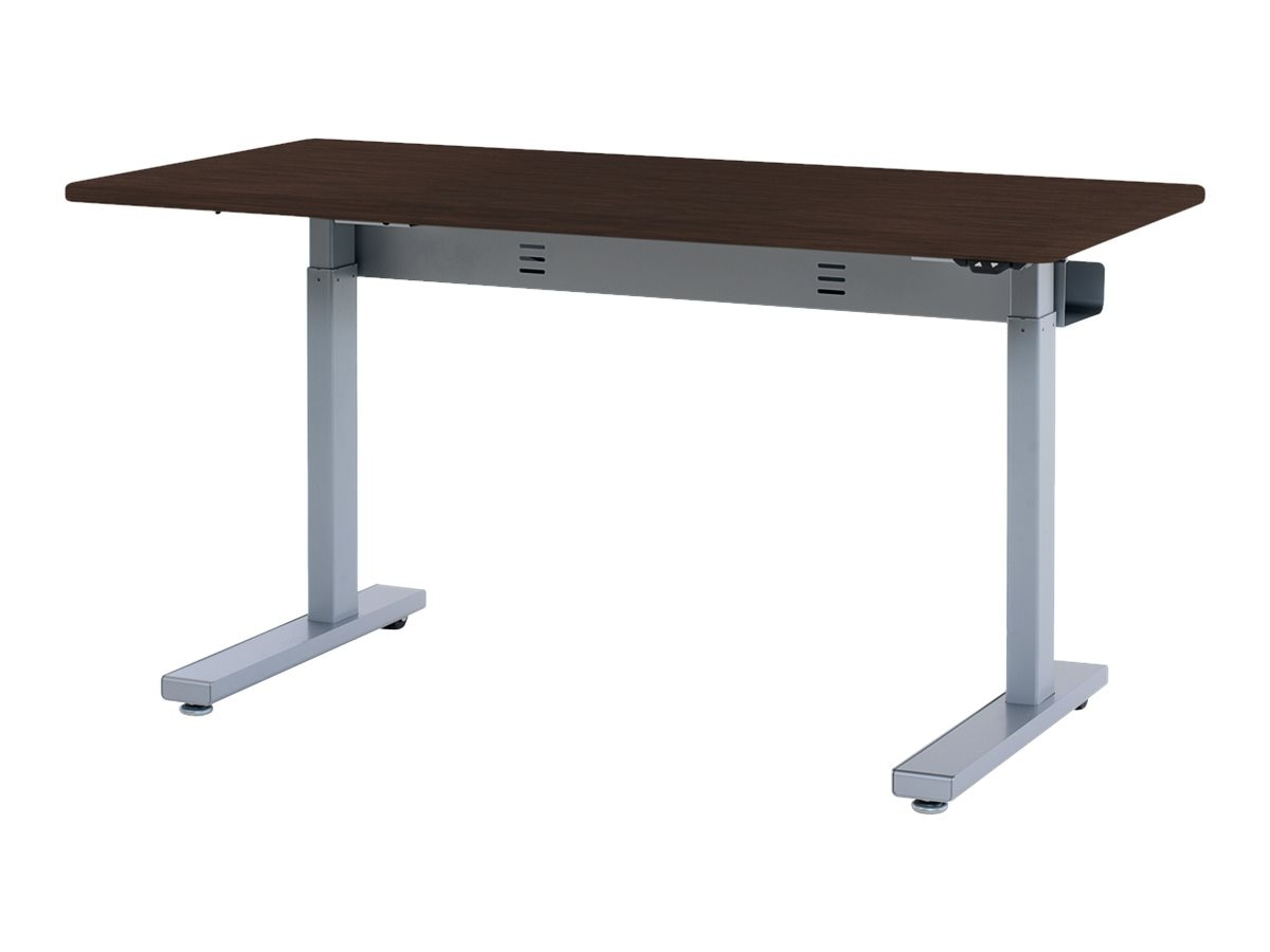 Ergotron Elevate 60 Electric Sit-Stand Desk, Wenge