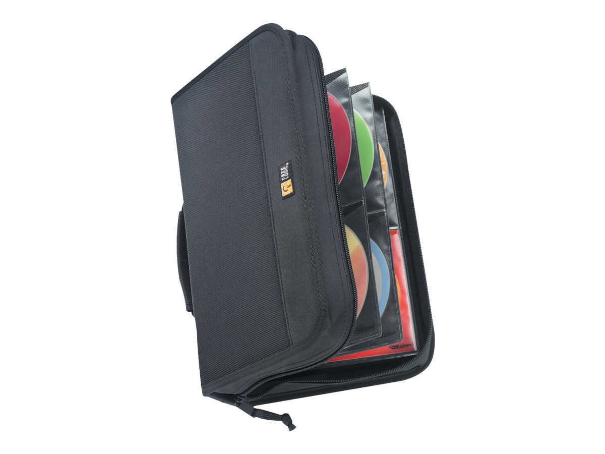 Case Logic CD Wallet; 92 Disc Capacity - Black Nylon