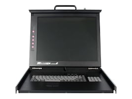 StarTech.com 1U 17 Folding LCD KVM Rackmount Console USB and PS2, RACKCONS1701, 7531365, KVM Displays & Accessories