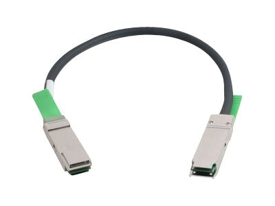C2G 28AWG QSFP+ to QSFP+ 40G Passive Infiniband Cable, Black, 2m
