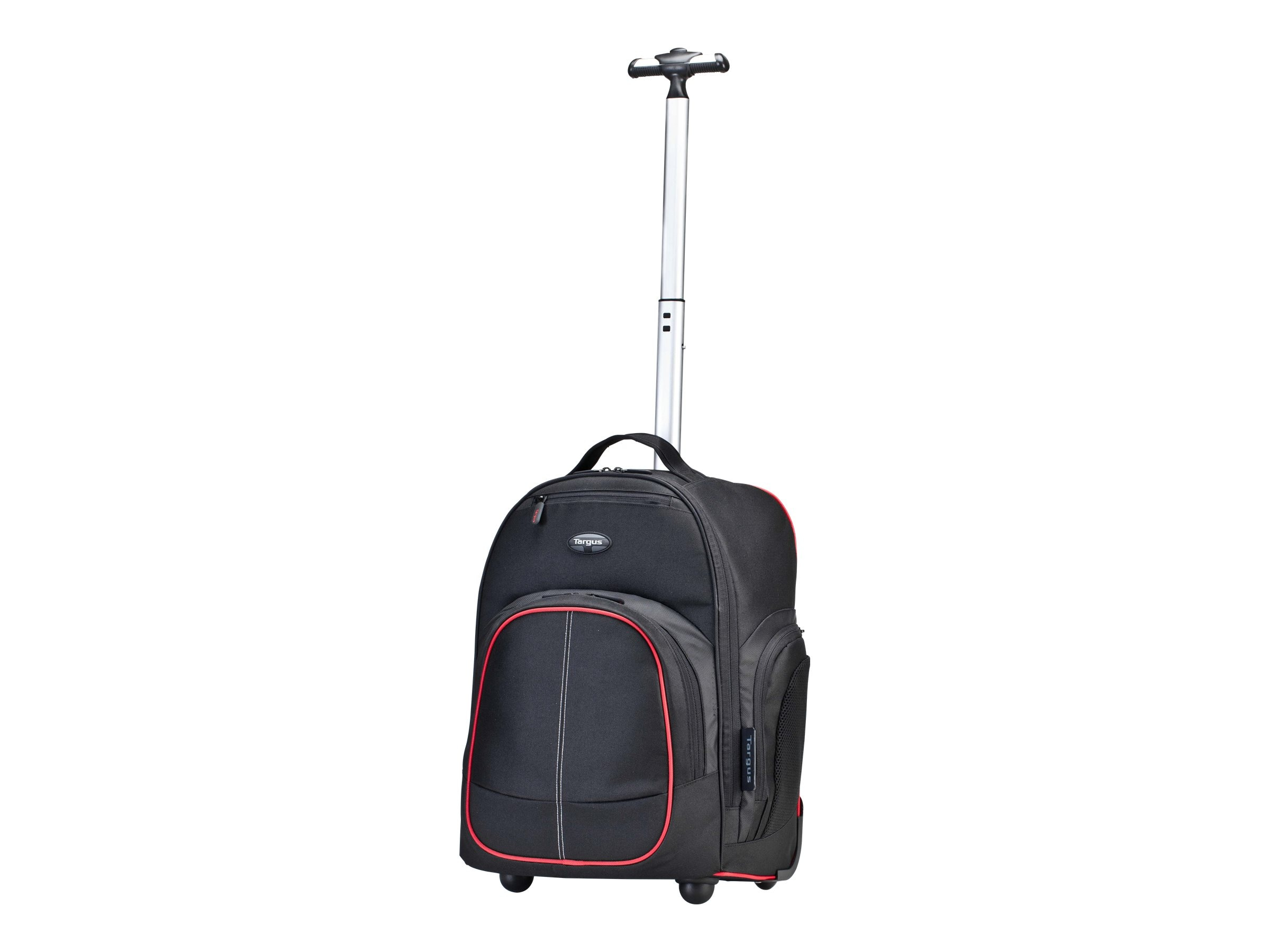 Targus 16 Compact Roller Backpack, Red Black, TSB75001US
