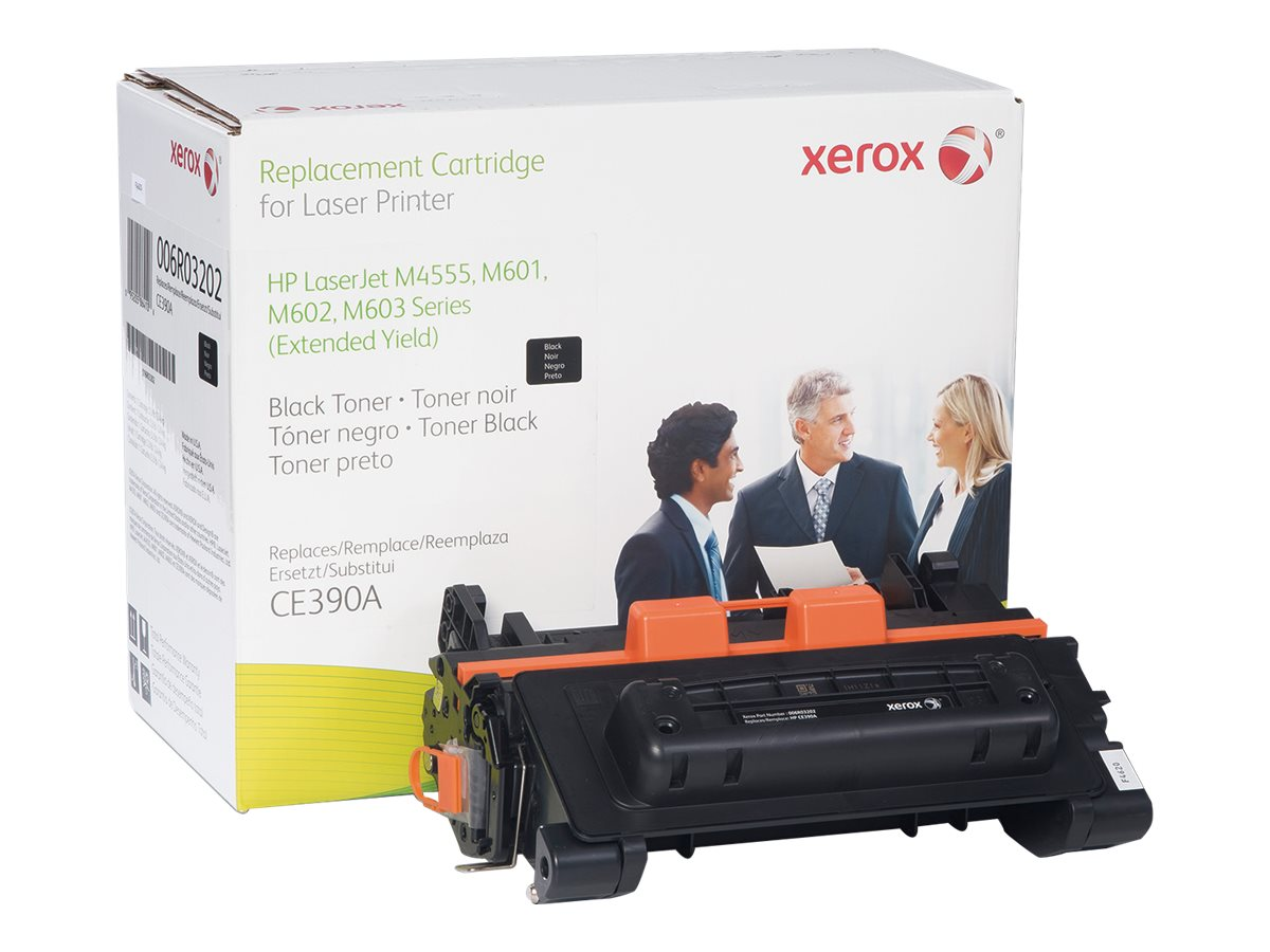 Xerox CE390A Black Toner Cartridge for HP LaserJet Enterprise 600 M601, M602 & M603 & M4555, 006R03202