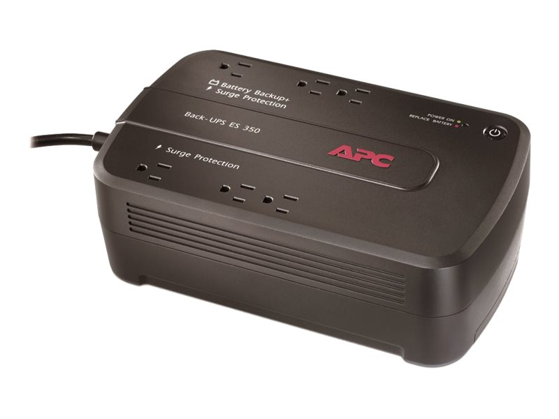 APC Back-UPS ES 350VA 120V Standby UPS, Green Edition, (6) Outlets, BE350G, 8618761, Battery Backup/UPS