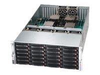 Supermicro SuperChassis 848E16 4U RM (4x)Intel AMD Family 24x3.5 HS SAS SATA Bays 11x Slots 6xFans 2x1620W, CSE-848E16-R1K62B, 15692126, Cases - Systems/Servers