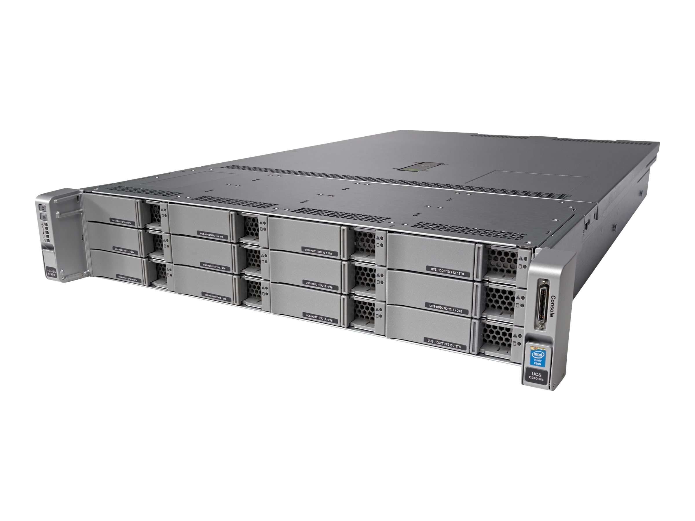 Cisco Not Sold Standalone C240 M4L Standard 2 (2x)Xeon E5-2620 v3 128GB VIC1227