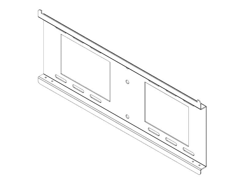 Peerless 18 Horizontal Wall Plate for Digital Menu Board Kit, Black, DS-VL-H018, 12890549, Stands & Mounts - AV