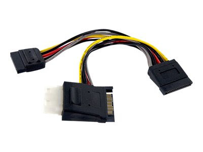 StarTech.com SATA to LP4 with 2x SATA Power Y-splitter Cable, PYOLP42SATA, 10628213, Adapters & Port Converters