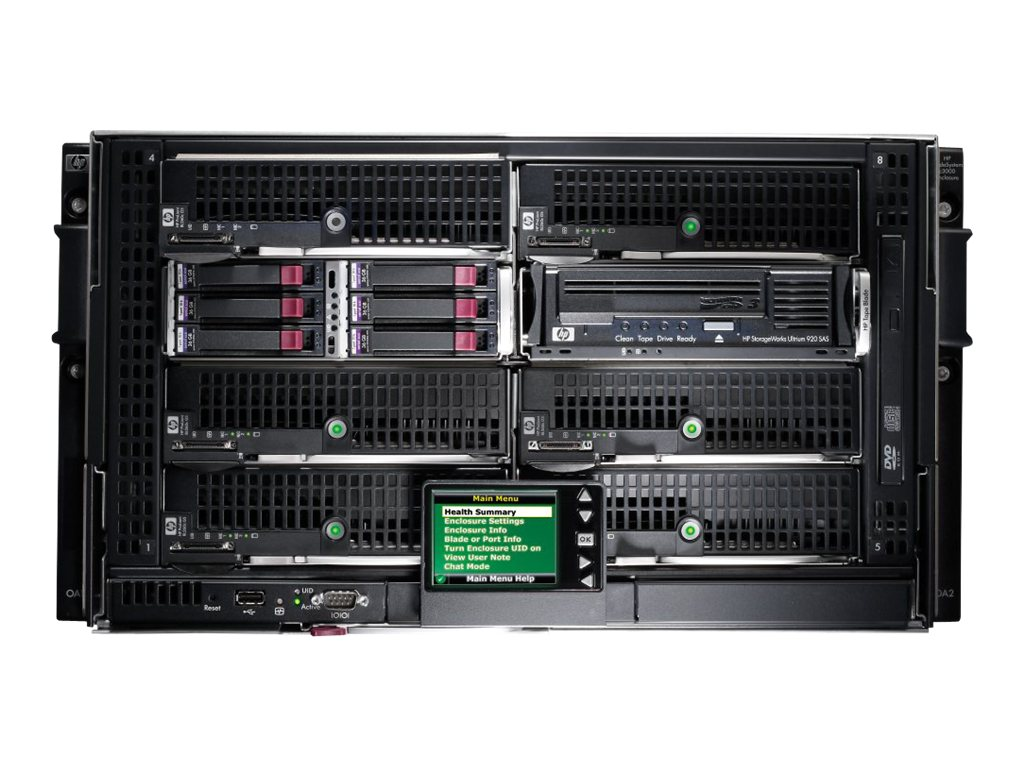 HPE BLc3000 Enclosure with 4 AC Power Supplies 6 Fan Full ICE License