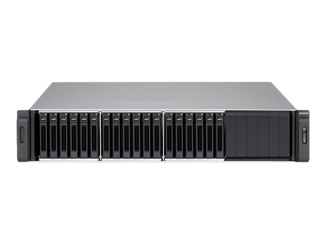 Qnap 18-Bay 2.5 iSCSI 2U SAS SATA 6Gb s 4LAN 10G-Ready NAS w  Redundant Power Supply, SS-EC1879U-SAS-RP-US