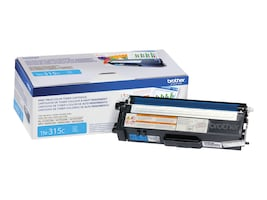Brother Cyan High Yield Toner Cartridge for HL-4150CDN, HL-4570CDW, HL-4570CDWT & MFC-9460CDN, TN315C, 12019577, Toner and Imaging Components