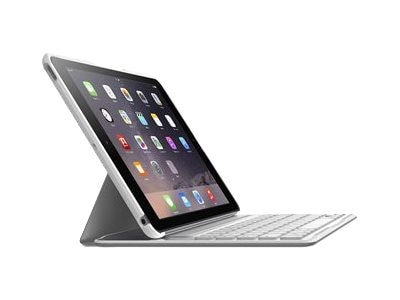 Belkin QODE Ultimate Pro Keyboard Case for iPad Air 2, White, F5L176TTWHT