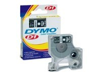 DYMO 1 2(12mm) x 23' White on Black D1 Tape