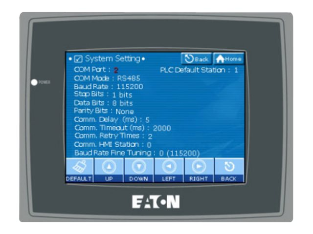 Eaton 6 Meter Color Touchscreen Display