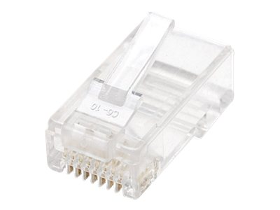 Intellinet Cat6 RJ-45 Stranded Wire Modular Plugs, 100-Pack