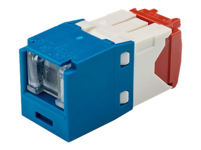 Panduit Cat5e RJ-45 8-position, 8-wire Spring Shuttered Universal Jack Module, Blue, CJH5E88TGBU