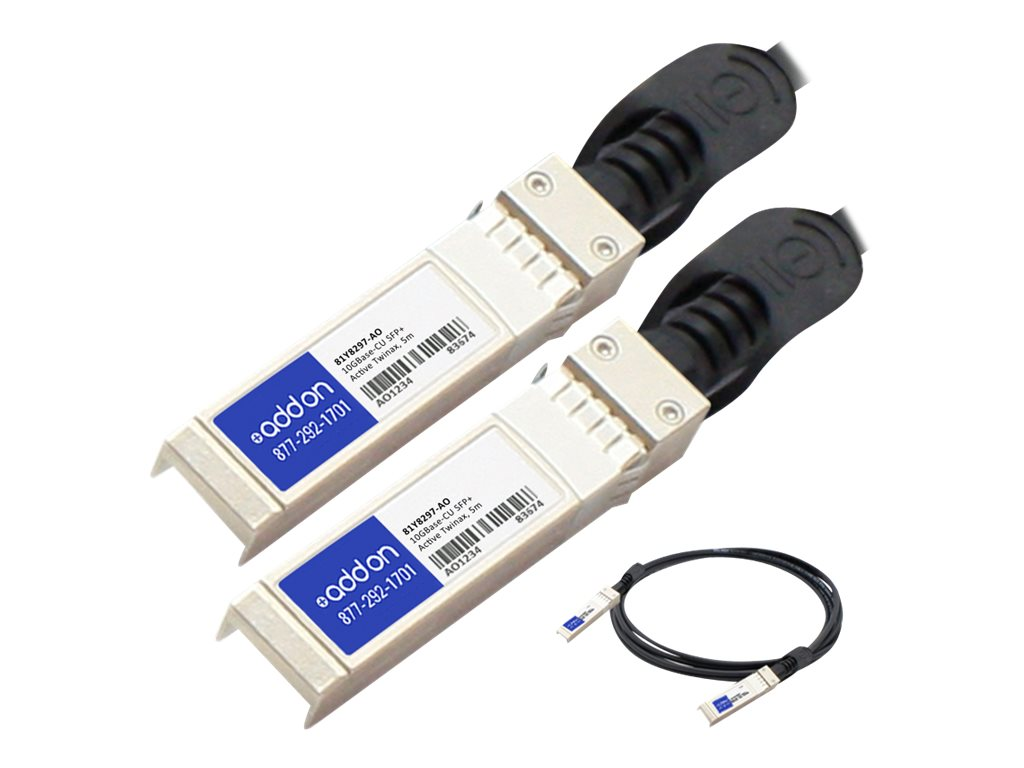 ACP-EP IBM Compatible 10GBase-CU SFP+ to SFP+ Direct Attach Cable, 5m