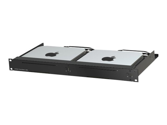 Sonnet MacRack Mini 1U Rack Kit for Mac Mini Server (2010+ models), RACK-MIN-2X, 12005343, Rack Mount Accessories