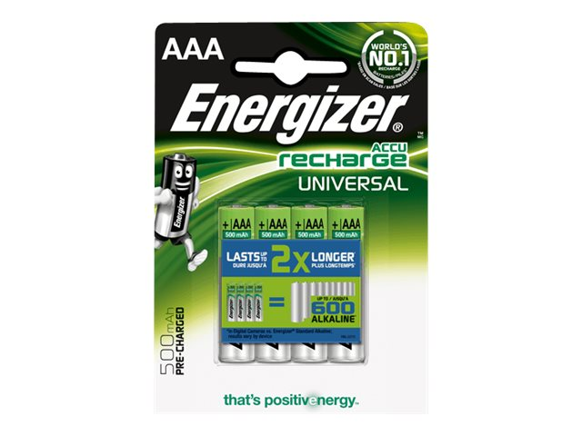 Energizer Universal Rechargeable AAA (4-pack), UNH12BP-4